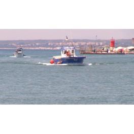 Barcos pesca entrando al puerto