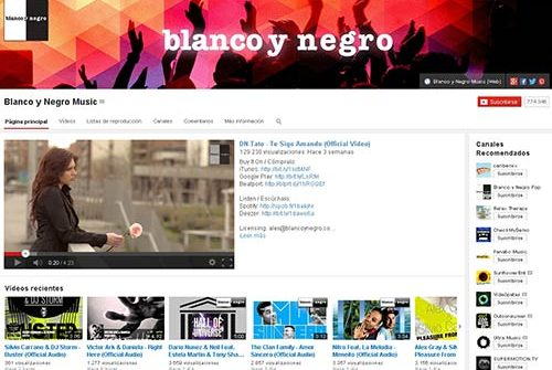 Canal Youtube blanco y negro