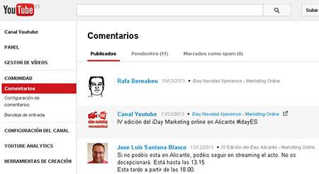 nueva funcion de comentarios en youtube