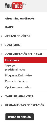 funciones youtube