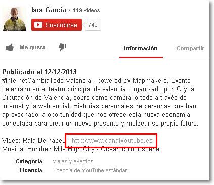 enlace desde canal Youtube Isra García
