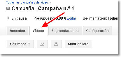 campaña adwords video
