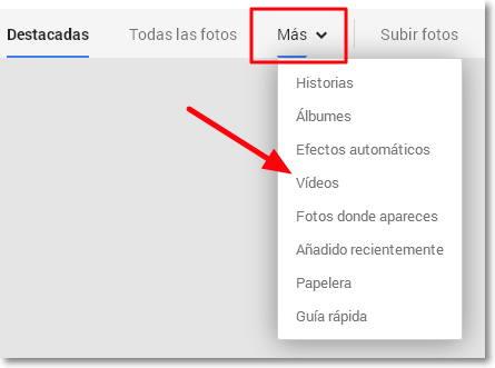 importar videos google