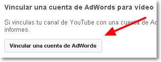 vincular cuenta adwords youtube