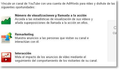 vincular cuenta youtube con adwords