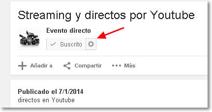streaming por youtube