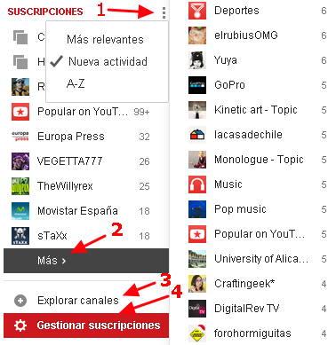 cancelar suscripciones youtube