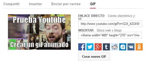 crear gif con youtube