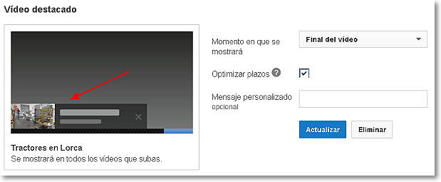 video destacado en youtube