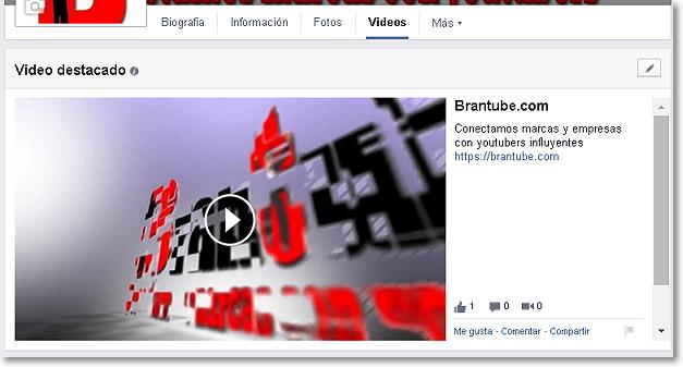 video destacado en Facebook