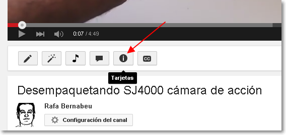 tarjetas en youtube