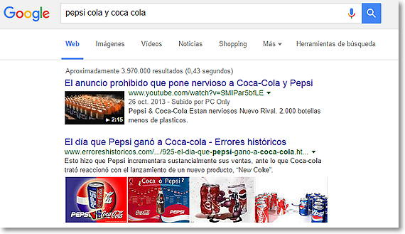 video en resultados de google