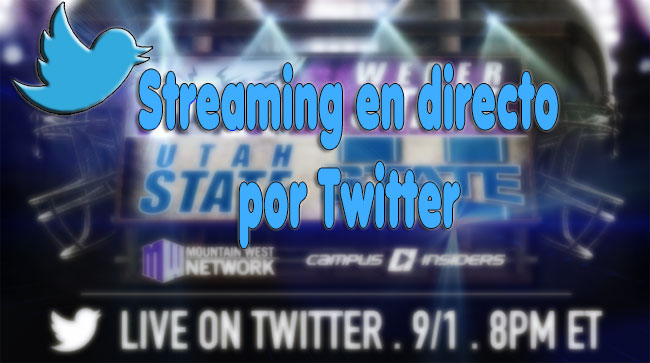streaming en directo por twitter