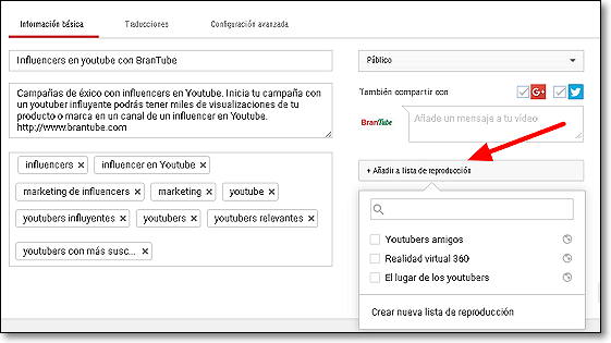 listas de reproduccion youtube