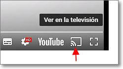 llevar youtube a tv