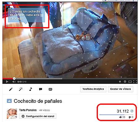 video en Youtube de cochecito de pañales