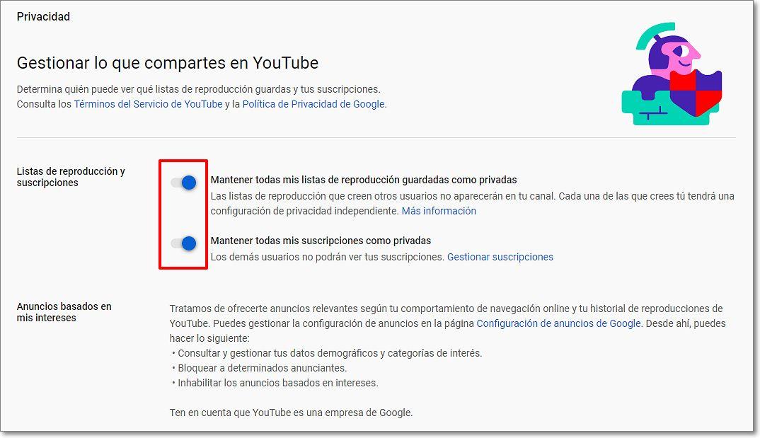 canal privado con youtube studio