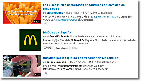 reputación negativa mc donalds