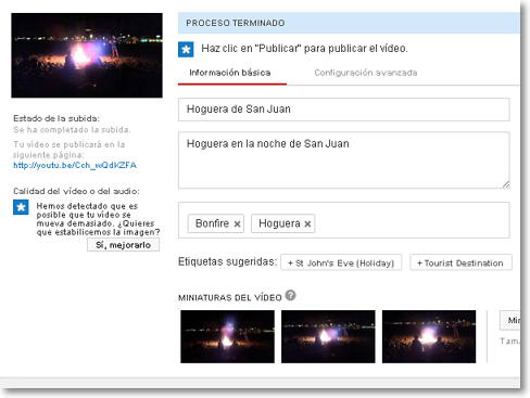 importar video desde google +