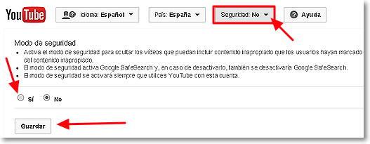 seguridad en Youtube 2