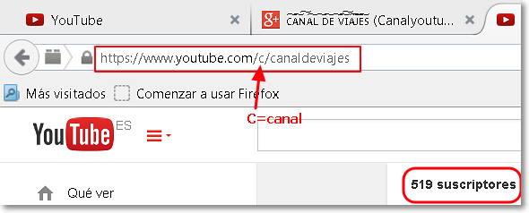 personalizar url canal youtube