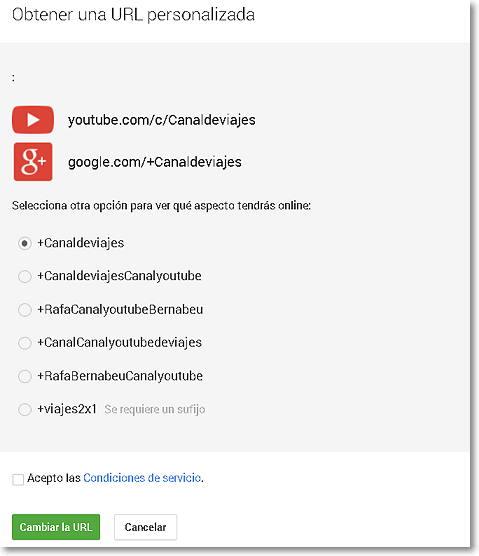 personalizar url youtube