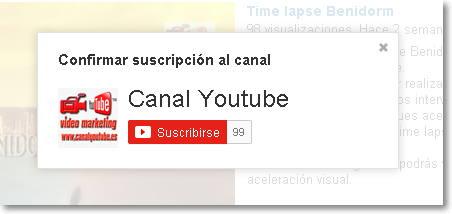 suscribirse al canal youtube