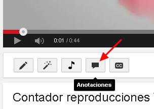 anotaciones en youtube