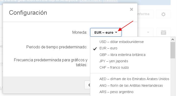 cambio de moneda en youtube