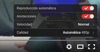 nuevo reproductor youtube calidad