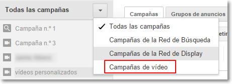 campañas de adwords para vídeo
