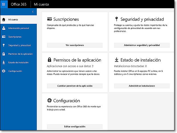 office 360 cuenta
