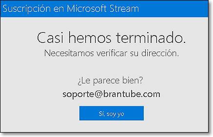verificación microsoft stream