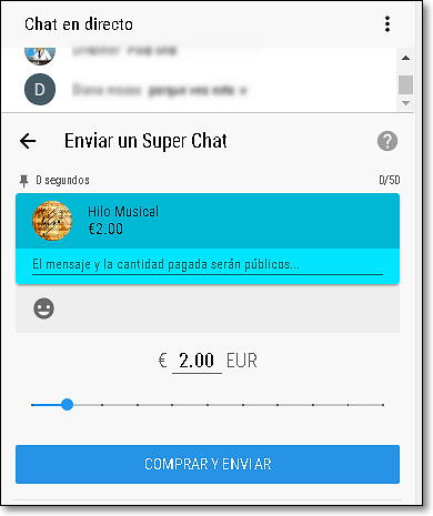 pago super chat