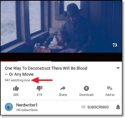 visualizaciones directo en youtube