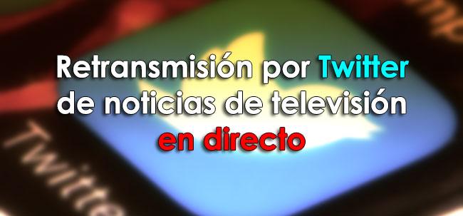 televisión en directo por Twitter