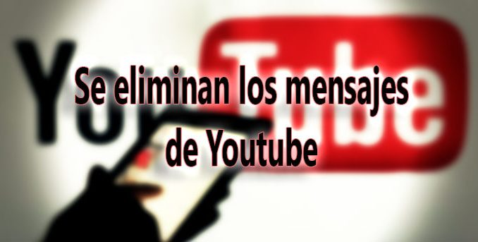 youtube quita mensajes chat