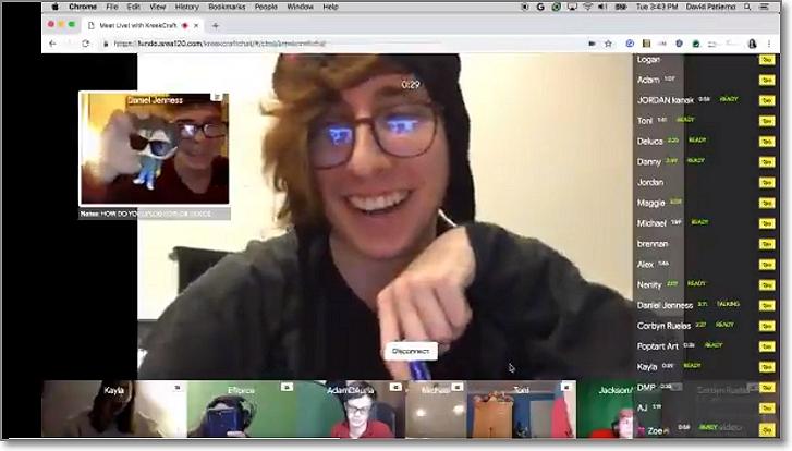 Fundo para conectar con un youtuber