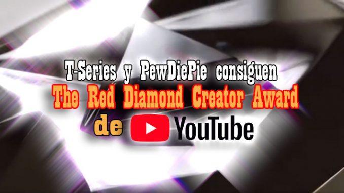 t-series y pewdiepie diamante rojo youtube