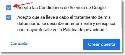 condiciones del servicio de google