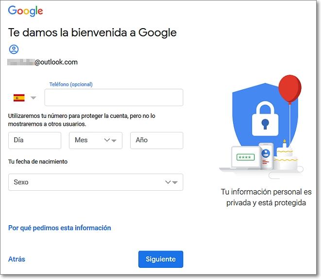 bienvenida a google