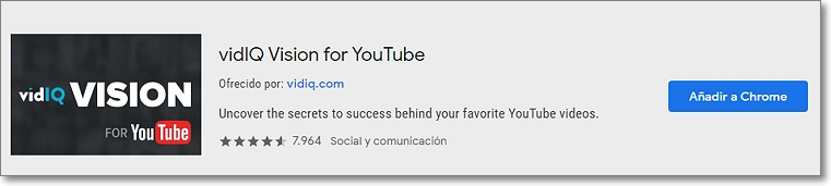 extension vidiq youtube