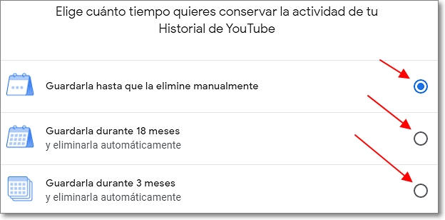 guardar historial de youtube