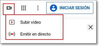 Subir vídeo a Youtube
