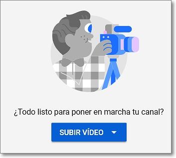 Subir vídeos a Youtube