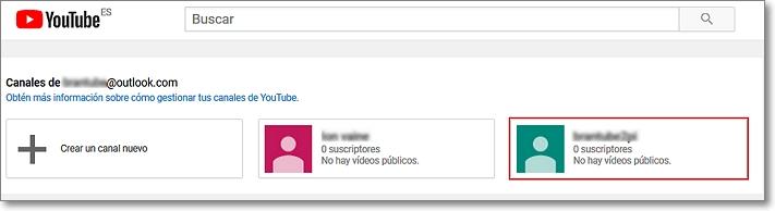 Más canales de marca en Youtube