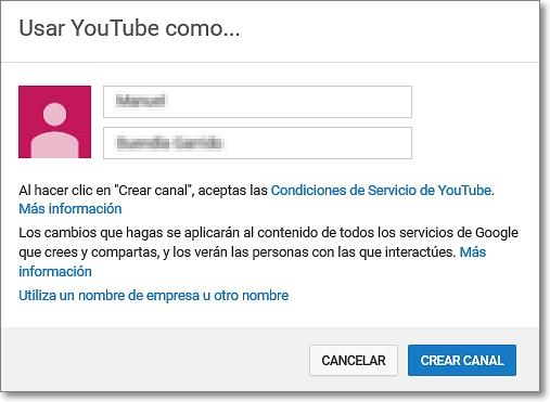 Personalizar nombre del canal en Youtube