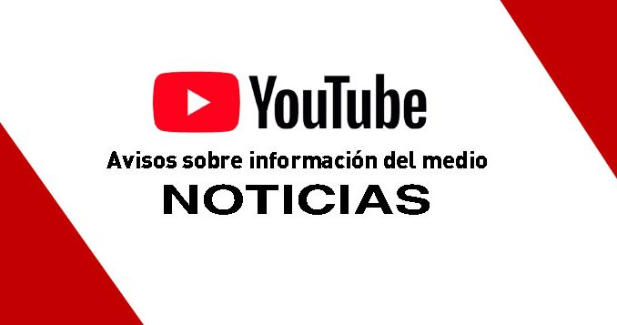 INFORMACION DEL MEDIO EN YOUTUBE