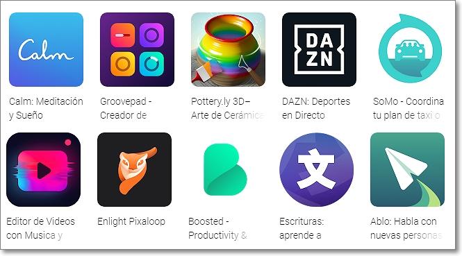 Aplicaciones nominadas Google Play