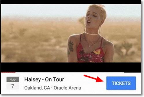 Botón Youtube venta de entradas